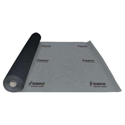 TechnoFloor Acoustic 100 sq. ft. 48 in. x 25 ft. x 0.13 in. Recycled Rubber Underlayment for All Types of Flooring