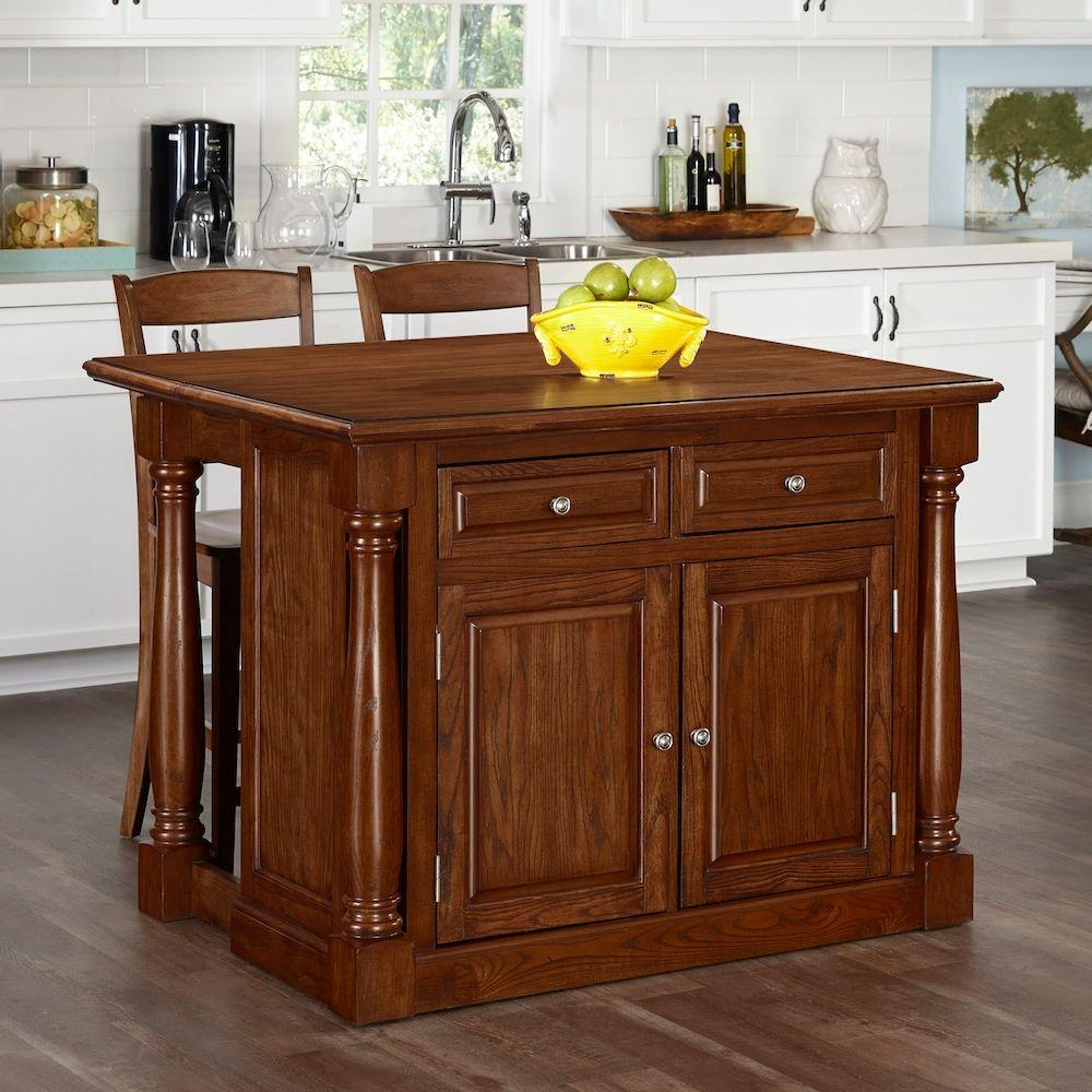 Monarch oak kitchen island with seating 5006 9448 the for 4 seat kitchen island