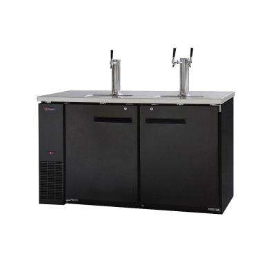 Commercial 3 Keg Beer Dispenser with Single and Dual Faucet Towers