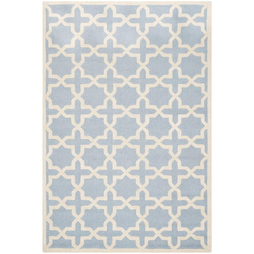 Safavieh Cambridge Light Blue/Ivory 5 ft. x 8 ft. Area Rug