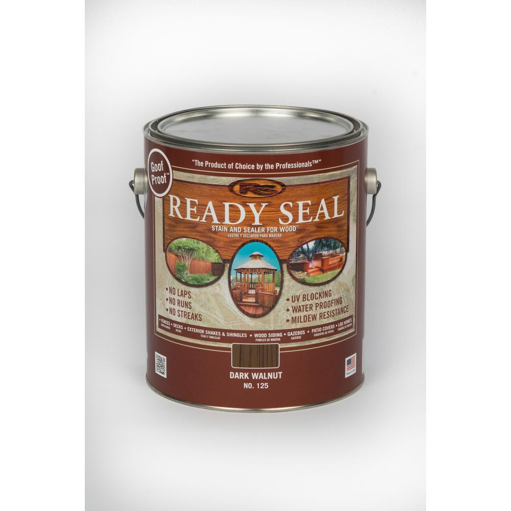 READY SEAL 1 gal. Dark Walnut Exterior Wood Stain and Sealer