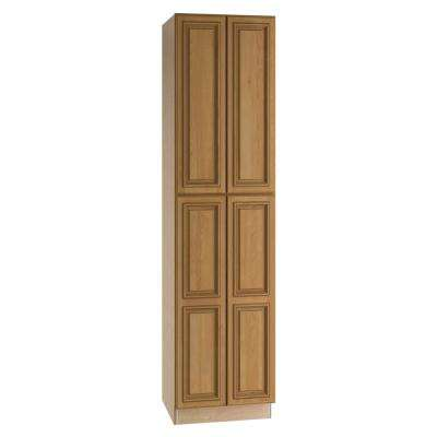 Clevedon Assembled 24 x 90 x 24 in. Pantry/Utility 2 Double Door Utilty Kitchen Cabinet in Toffee Glaze