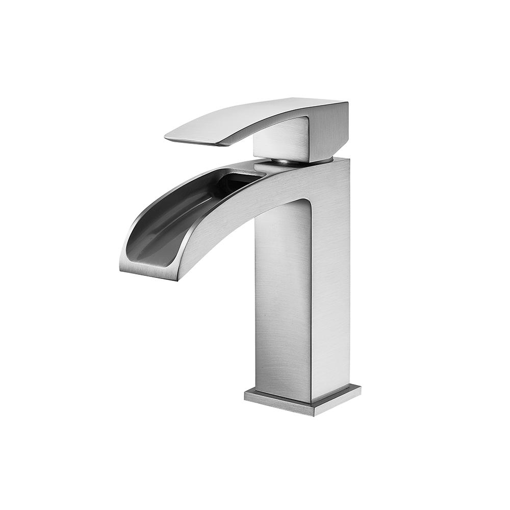 ROSWELL Liberty Single Hole Single-Handle Bathroom Faucet in Brushed Nickel