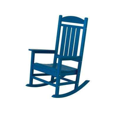 Excellent Presidential Pacific Blue Plastic Patio Rocker Gmtry Best Dining Table And Chair Ideas Images Gmtryco