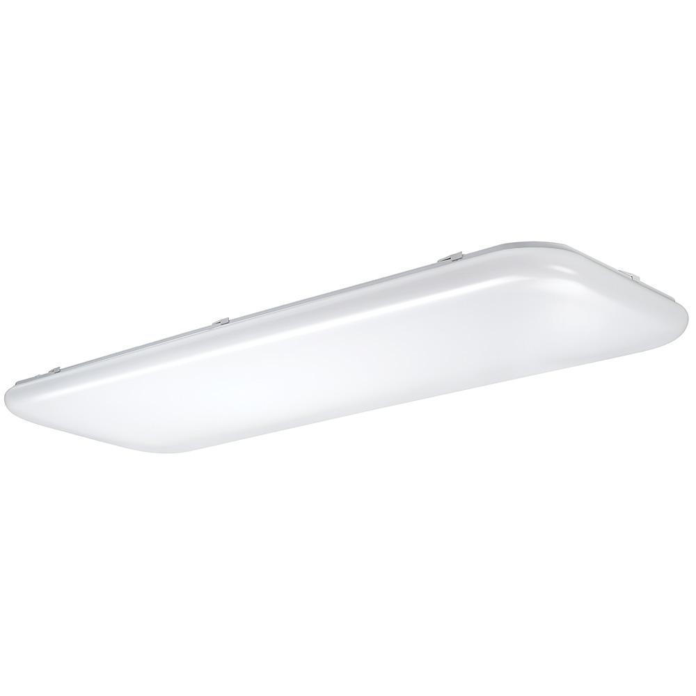 ETi 49 in. x 18 in. Traditional Rectangle Stepped Lens LED Flush Mount Ceiling Light Dimmable High Output 5500 Lumens