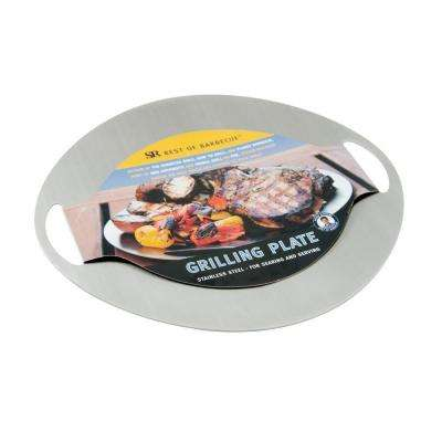 Stainless Steel Grilling/Serving Plate