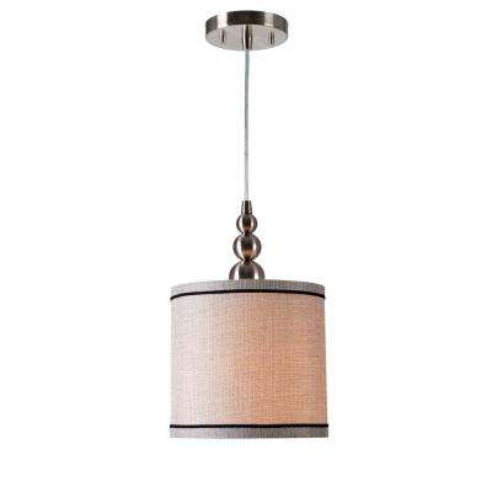 Marcey 1-Light Brushed Steel Mini-Pendant