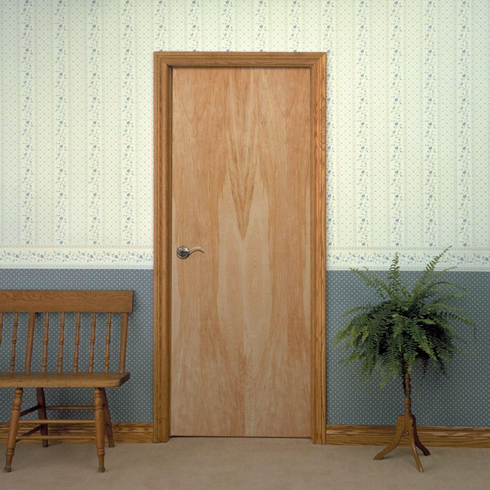 Smooth Flush Hardwood Hollow Core Birch Veneer Composite Interior Door Slab