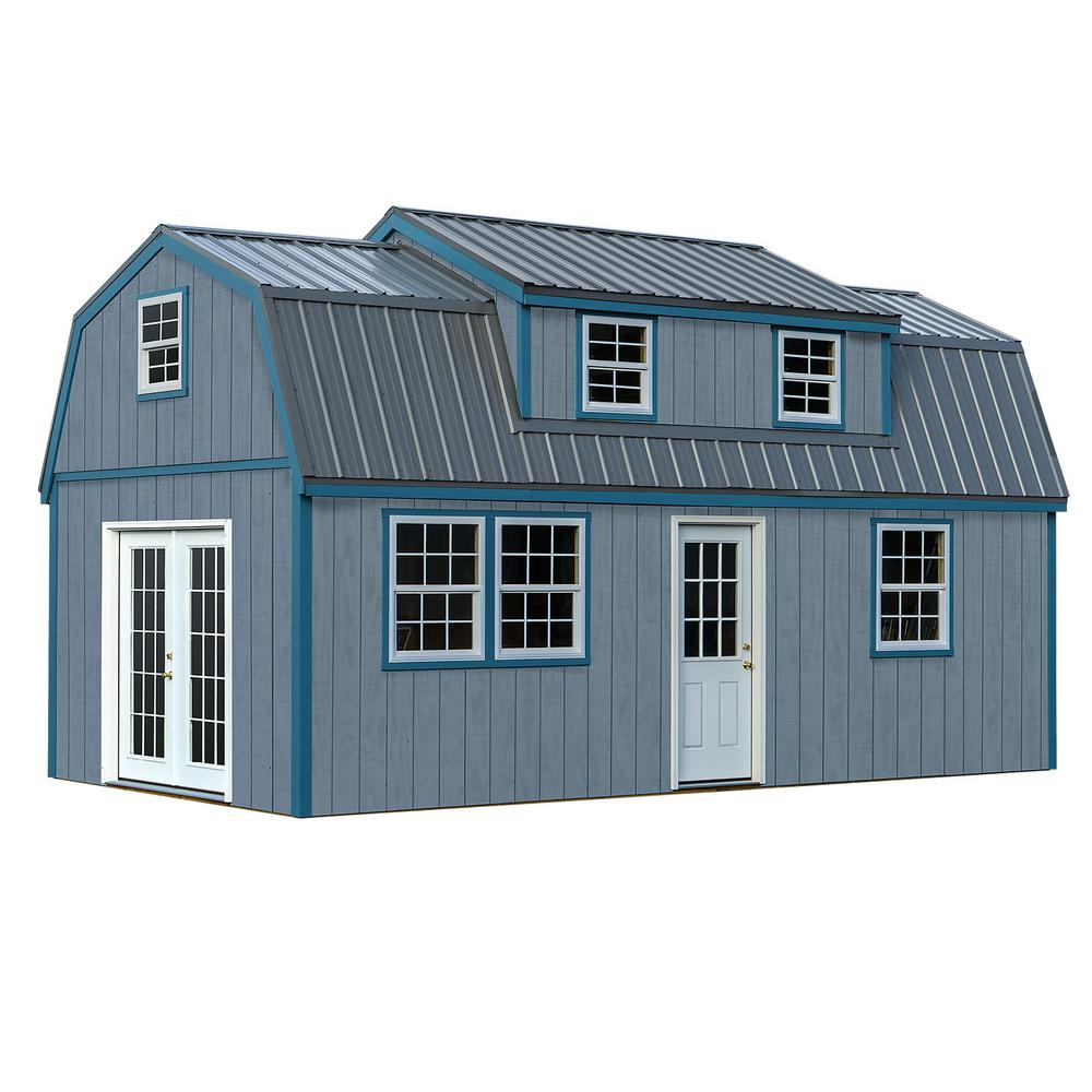 Lakewood 12 Ft X 24 Ft Wood Storage Shed Kit Without Floor