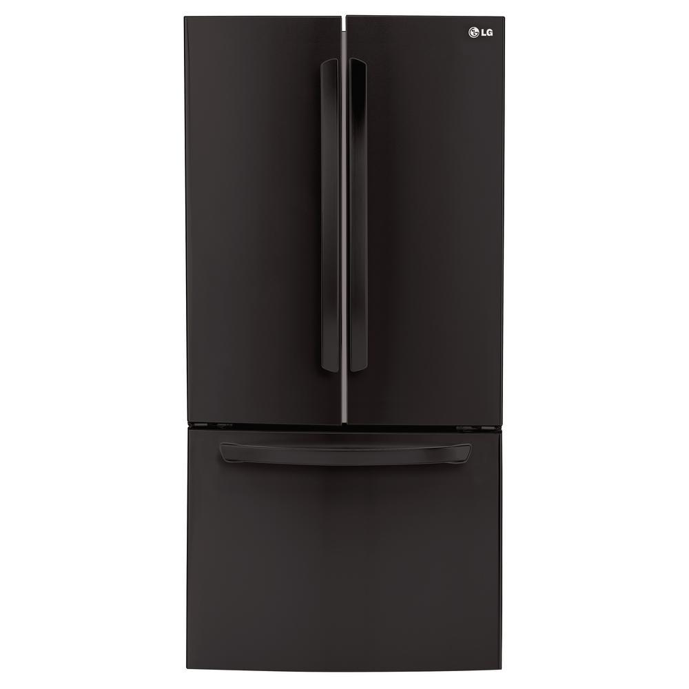 24 cu. ft. French Door Refrigerator in Smooth Black