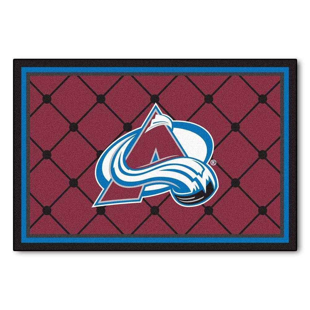 FANMATS NHL Colorado Avalanche Red 5 Ft. X 8 Ft. Indoor