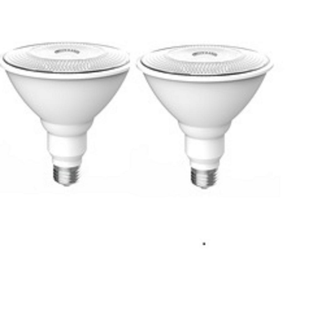 120-Watt Equivalent PAR38 LED Motion Sensor Flood Light Bulb Bright White (2-Pack)