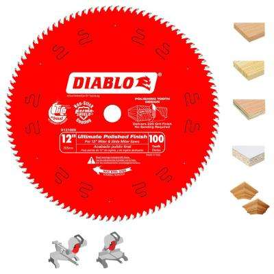 12 in. x 100-Tooth Ultimate Polished Finish Saw Blade (15-Pack)