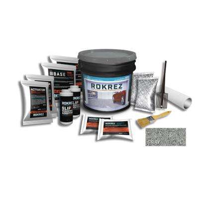 230 oz. Gray Gloss 2.5 Car Garage Industrial Epoxy Floor Kit 2 Component 100% Solids All-In-One DIY Kit