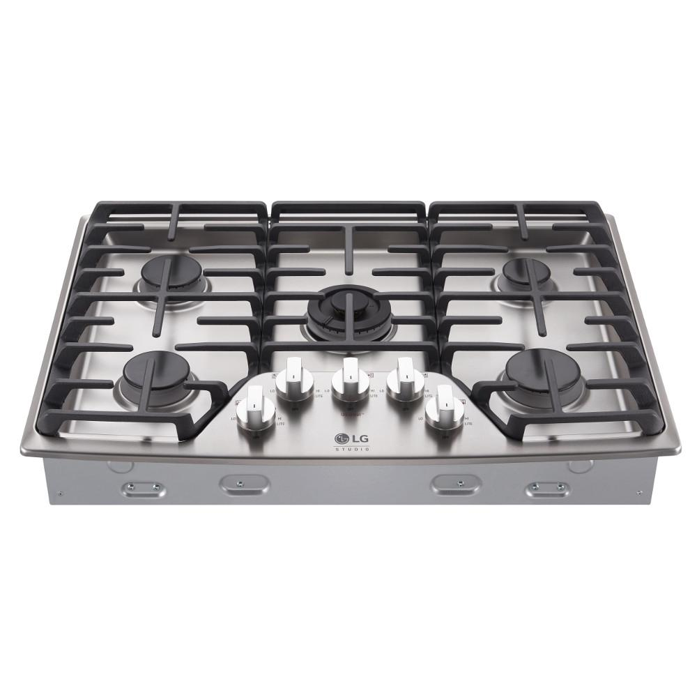 5 Burner Gas Cooktops: LG STUDIO 30 In. Gas Cooktop In Stainless Steel With 5