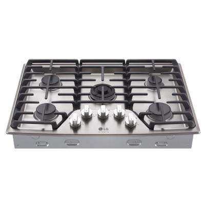 30 in. Gas Cooktop in Stainless Steel with 5 Burners including Ultraheat Dual Burner
