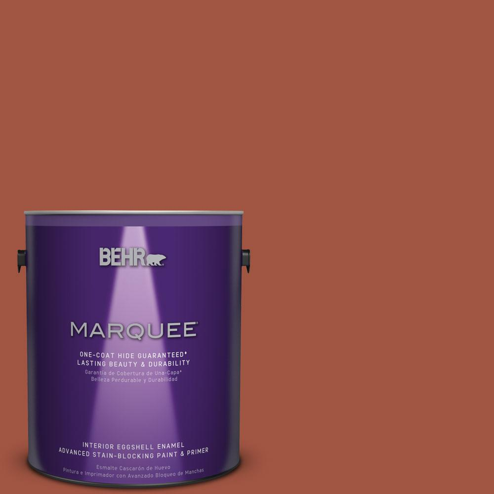 1 gal. #MQ1-25 Kalahari Sunset Eggshell Enamel One-Coat Hide Interior Paint