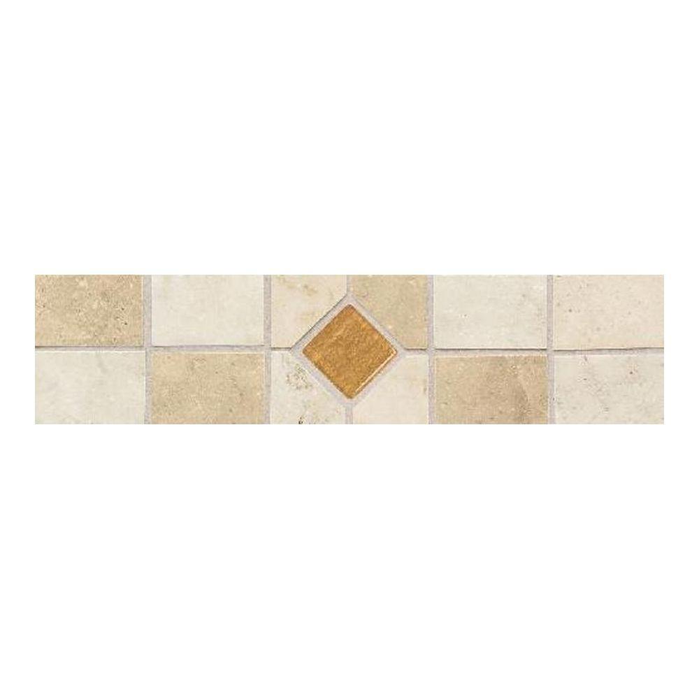 Daltile Brancacci Multi-Color/Universal 3 in. x 12 in. Ceramic Decorative Floor and Wall Tile