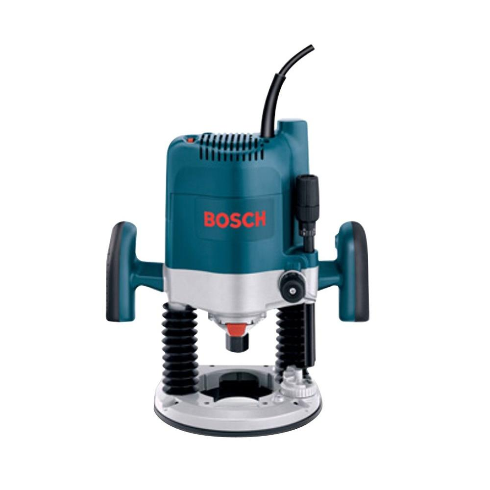 Bosch 15 Amp Corded 3-1/2 in. Variable Speed Plunge Router-1619EVS ...