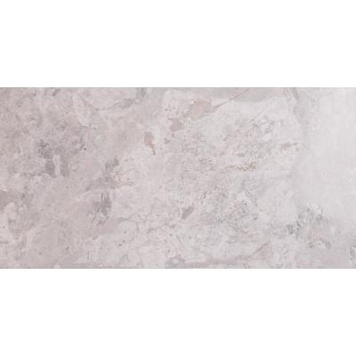 Tundra Gray 12 in. x 24 in. Polished Marble Floor and Wall Tile (10 sq. ft. / case)