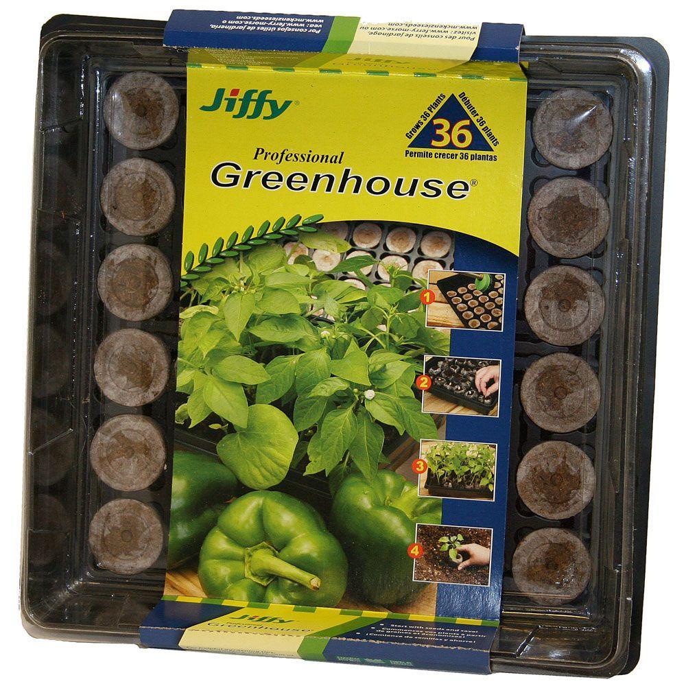 Jiffy 36 Peat Pellet Greenhouse
