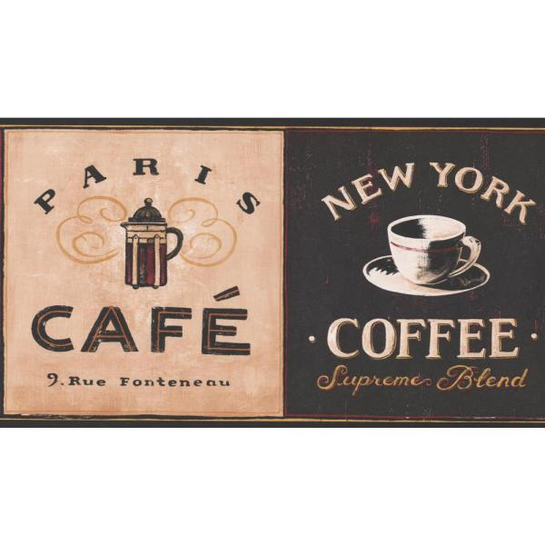 York Wallcoverings Coffee Places Kitchen Prepasted Wallpaper