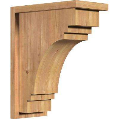 7-1/2 in. x 14 in. x 18 in. Western Red Cedar Pescadero Smooth Corbel with Backplate