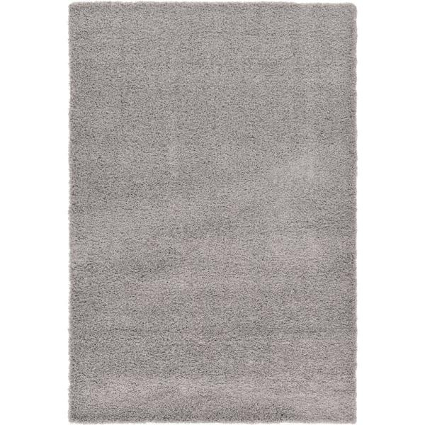 Solid Shag Cloud Gray 6 ft. x 9 ft. Area Rug