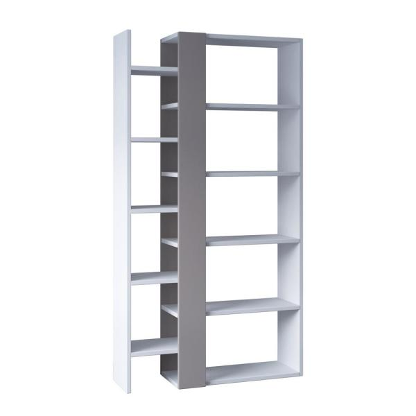 Ada Home Decor Boise White and Light Mocha Modern Bookcase DCRB2131