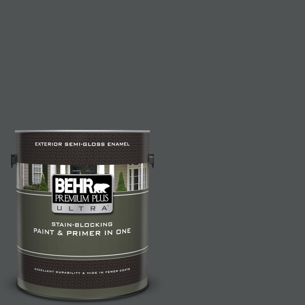 behr premium plus ultra 1 gal ppu25 01 carbon copy semi gloss