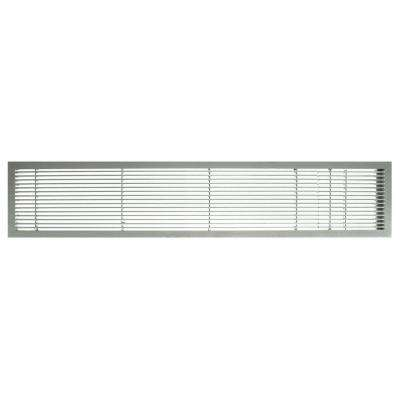 AG10 Series 4 in. x 10 in. Solid Aluminum Fixed Bar Supply/Return Air Vent Grille, Brushed Satin