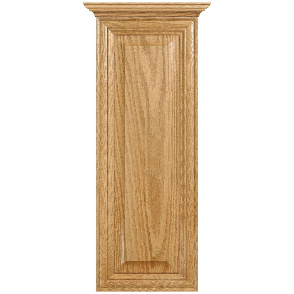 MasterBath Raised Panel 12 in. W Wall Hutch Cabinet in Medium Oak