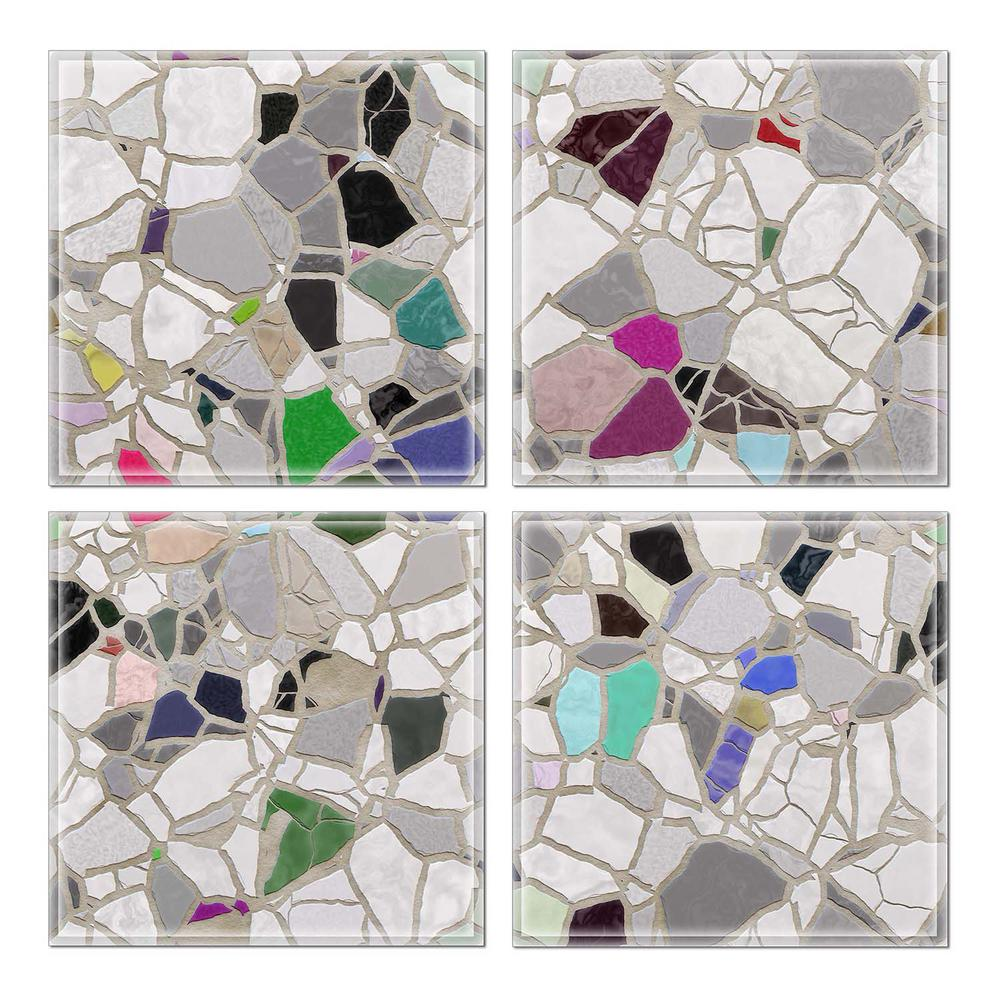 6 In X 6 In X 6 Mm Upscale Designs Crystal Glass Mosaic Wall Tile 7 8 Sq Ft Case