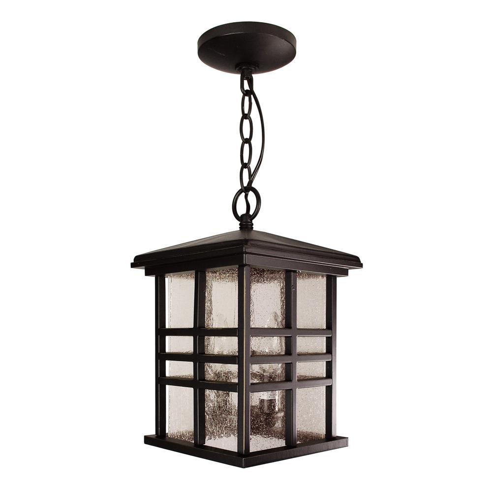 Weathered Bronze 2-Light Hanging Lantern