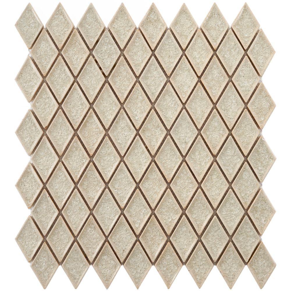 Merola Tile Crackle Diamond Ice 12 In X 12 In X 8 Mm