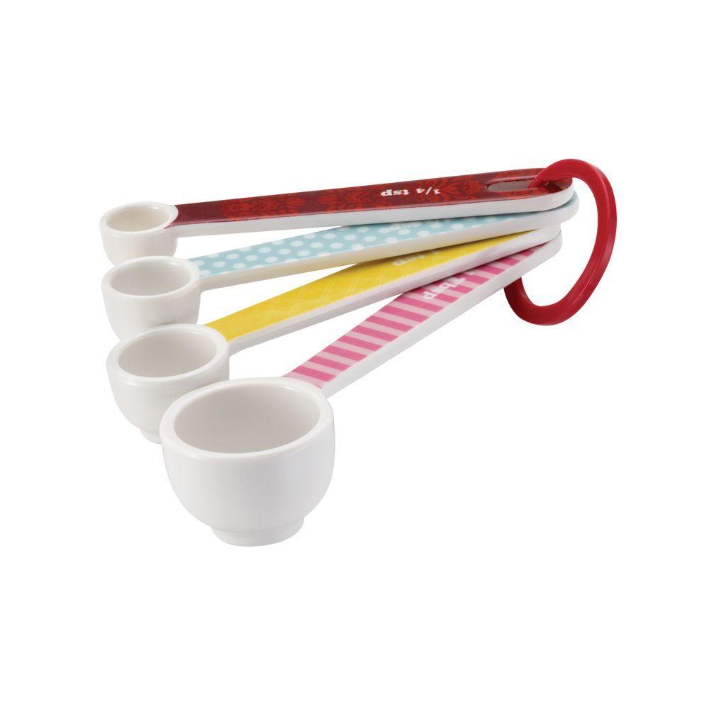 Countertop Accessories 4-Piece Melamine Measuring Spoon Set
