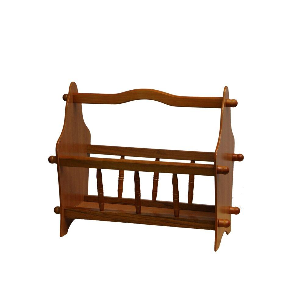 Ore International Magazine Rack - 14 in. Keep the room tidy with this traditional magazine rack. Organize room with this nice looking rack by placing newspaper, magazines and catalogs into this handy rack.