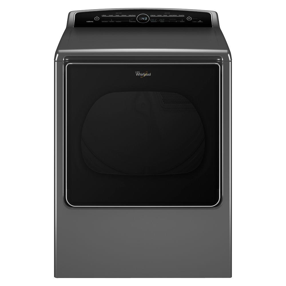 whirlpool cabrio 8 8 cu ft high efficiency gas dryer with steam in chrome shadow wgd8500dc. Black Bedroom Furniture Sets. Home Design Ideas