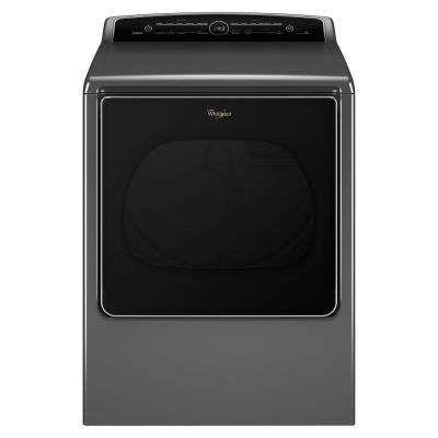 8.8 cu. ft. Chrome Shadow High-Efficiency Gas Dryer with Intuitive Touch Controls Steam Refresh