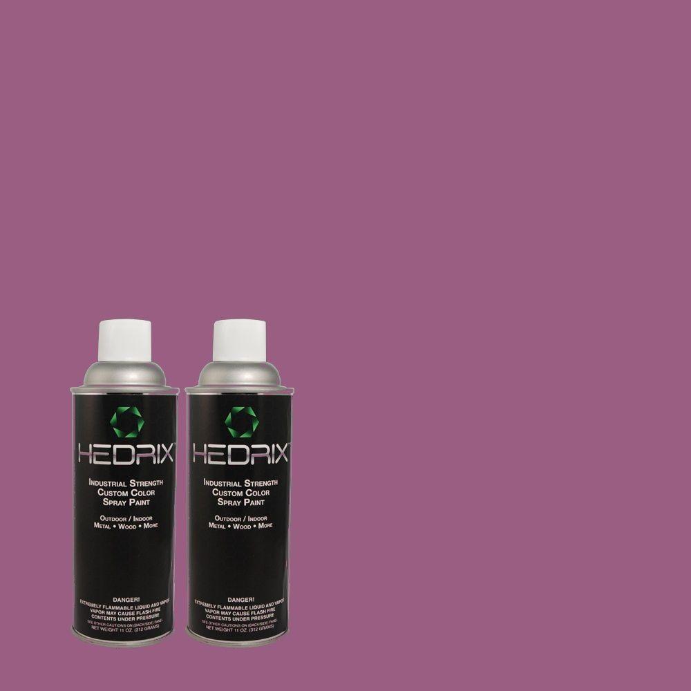 Hedrix 11 oz. Match of 670B-7 Candy Violet Flat Custom Spray Paint (2-Pack)