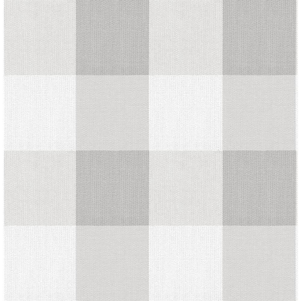 30.75 sq. ft. Buffalo Plaid Grey Peel & Stick Wallpaper