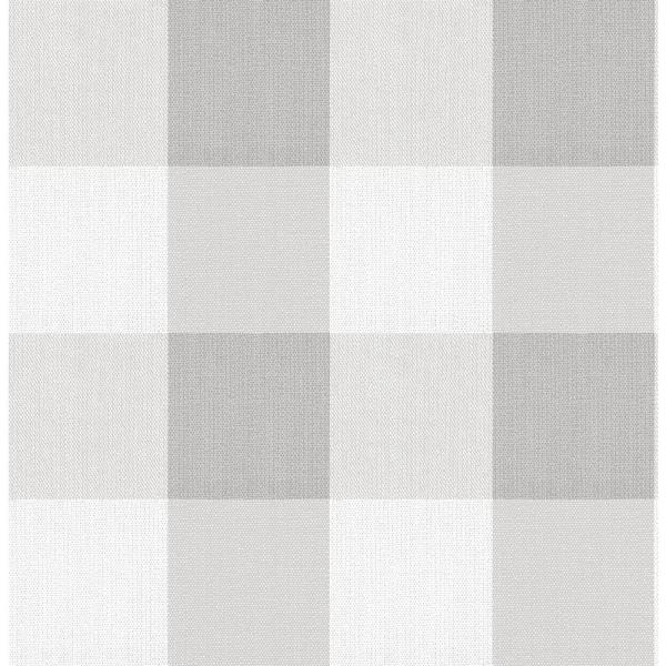 Buffalo Plaid Grey Grey Vinyl Strippable Roll (Covers 30.75 sq. ft.)
