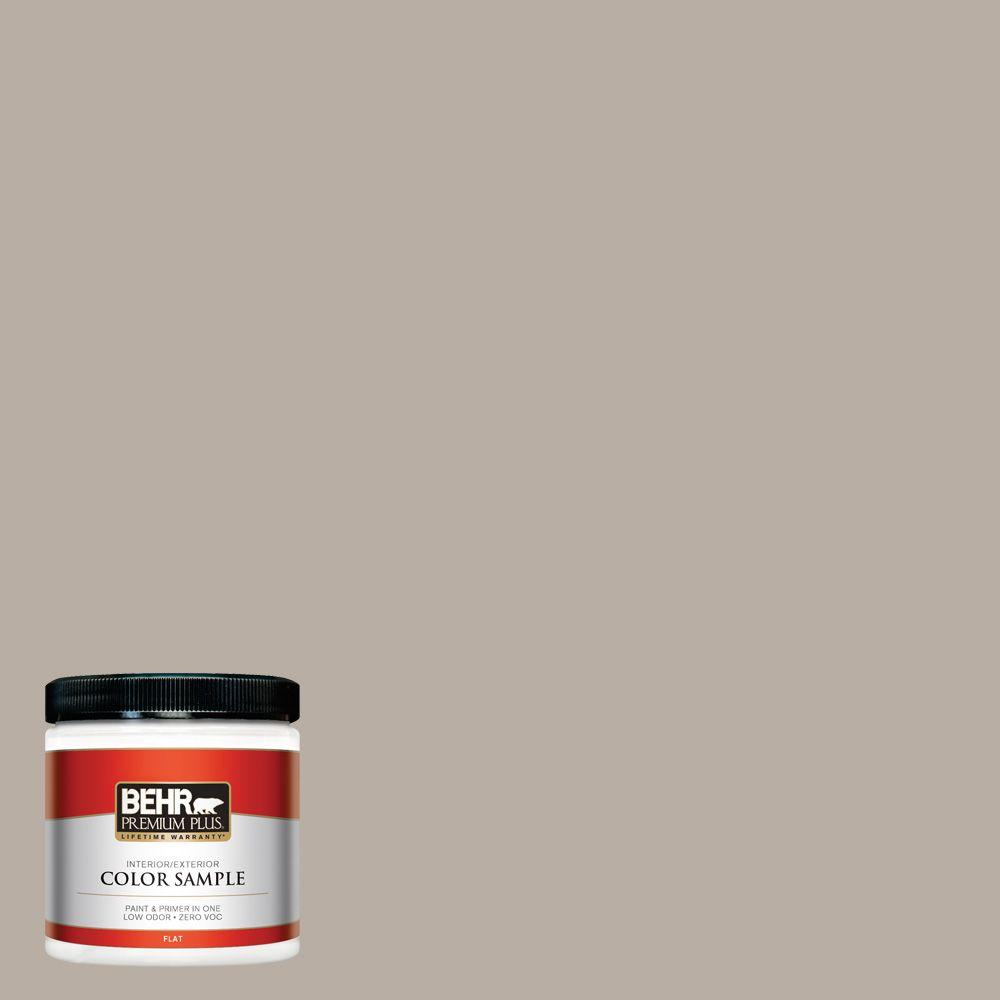 8 oz. #N200-3 Nightingale Gray Flat Interior/Exterior Paint and Primer in