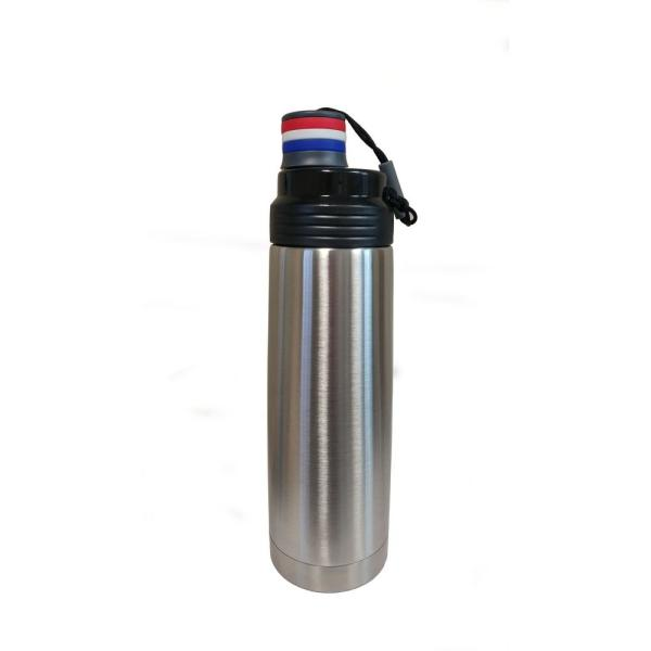 ExcelSteel 30 oz. Stainless Steel Flask with Twist on Pull Lid