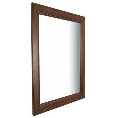 Humboldt 30 in. W x 1 in. D x 36 in. H Single Wall Mirror in Sable Walnut