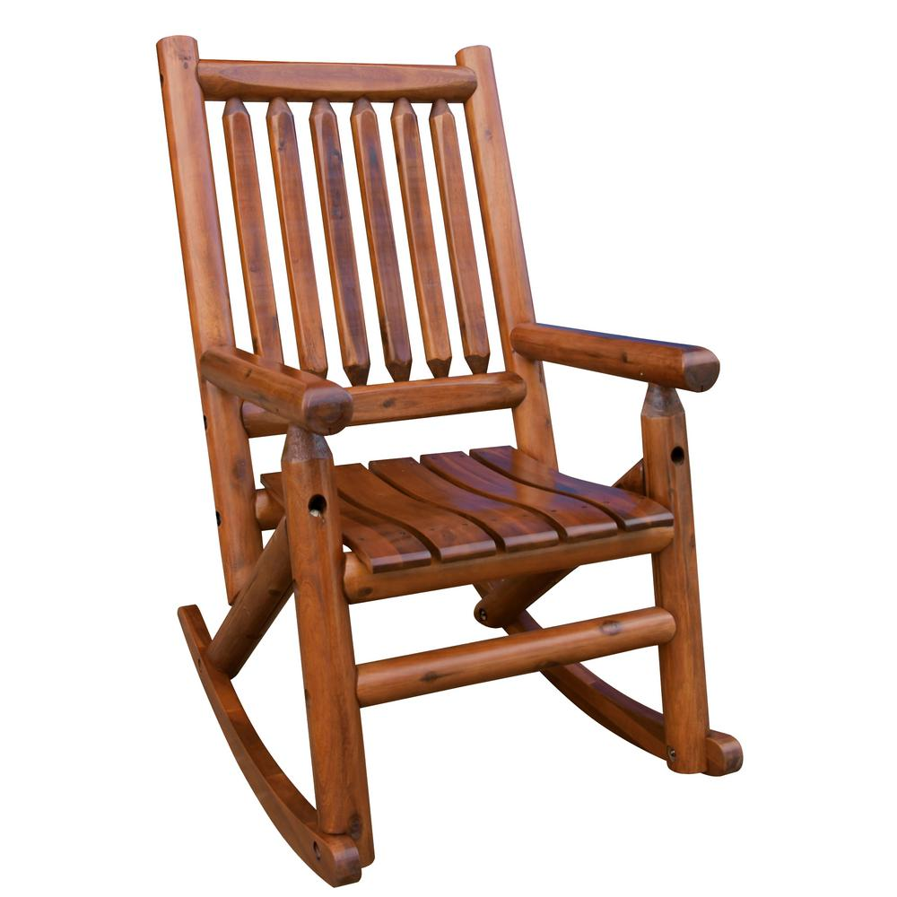 Leigh Country Amberlog Patio Rocking Chair  sc 1 st  Home Depot & Leigh Country Amberlog Patio Rocking Chair-TX 36000 - The Home Depot
