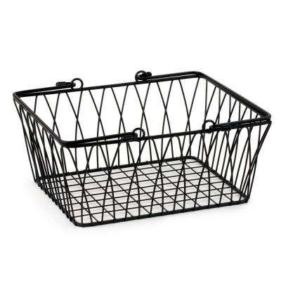 Twist 11.125 in. W x 10 in. D x 5.25 in. H Medium Basket in Black