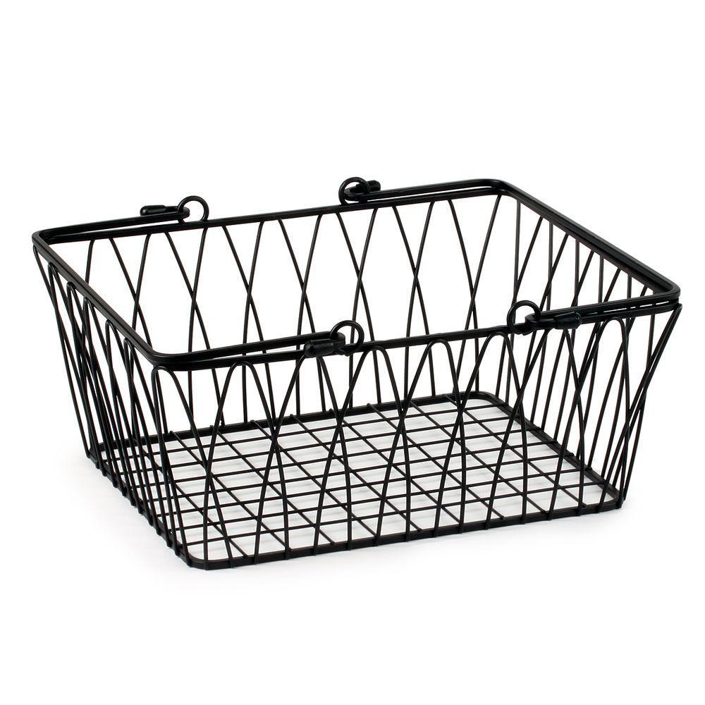 Twist 11.125 in. W x 10 in. D x 5.25 in. H Medium Basket in Black