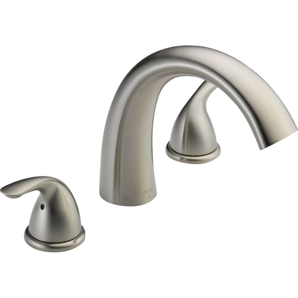 Brilliant Delta Classic 2 Handle Deck Mount Roman Tub Faucet Trim Kit Only In Stainless Valve Not Included Beutiful Home Inspiration Ponolprimenicaraguapropertycom