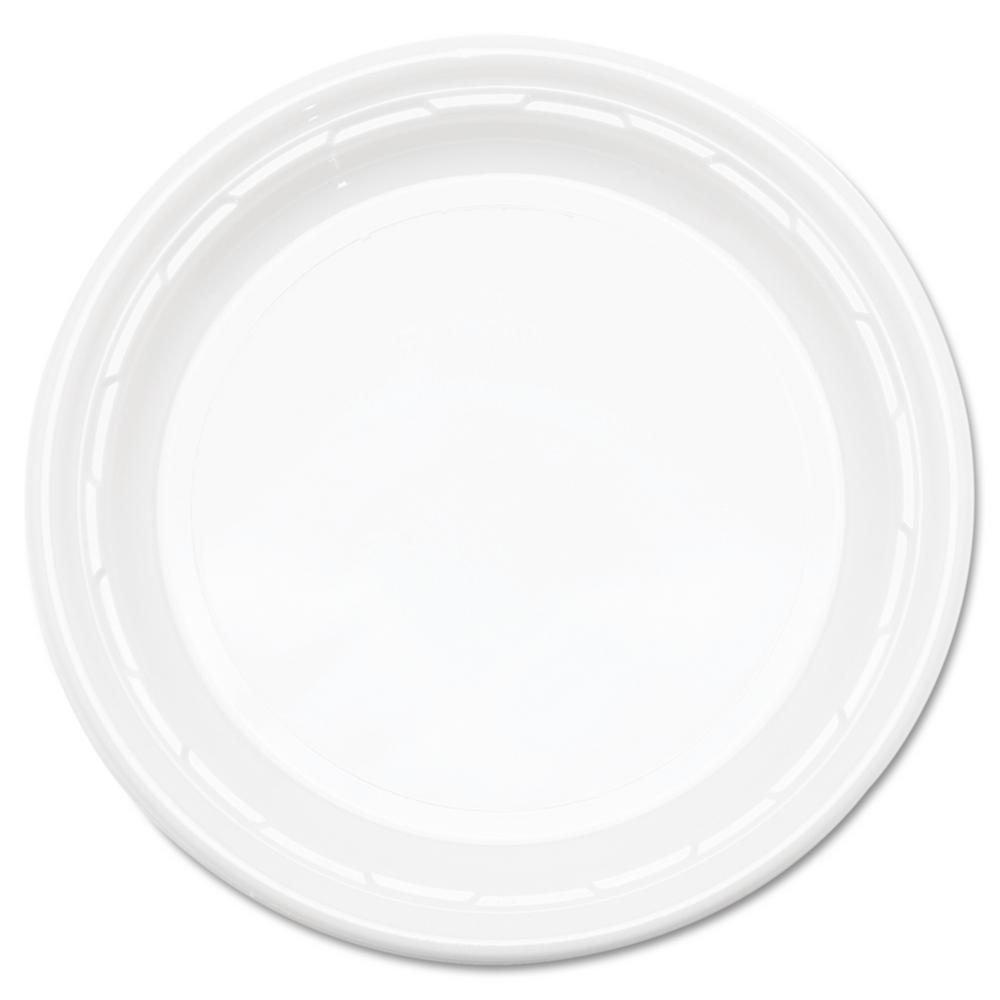 Plastic Plates, 9 in., White, 500 Per Case